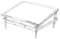 newspaper table sketch