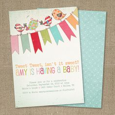 PRINTABLE Vintage Little Birdie birthday party by chachkedesigns