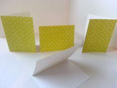 Set of 4 - Light Green with Dots Folded Gift Tags