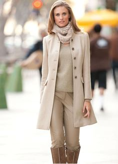 Neutrals...love the coat  For more visit http://fashion-sketches.net