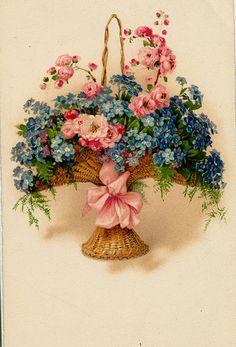 Flowerarrangement with Forget me nots