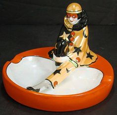 NORITAKE ART DECO CLOWN ASHTRAY