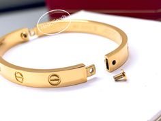 Cartier Love Bracelet old model screw system - HoooFashion Love Bracelets, Bangles, Pink And Gold, White Gold, Cartier Gold, Cartier Bracelet, System Model, Rolex Day Date, Oyster Perpetual