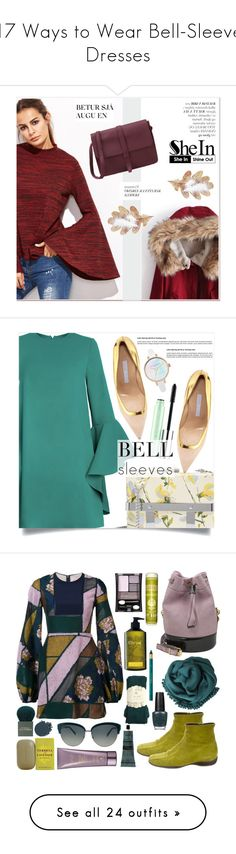 """17 Ways to Wear Bell-Sleeve Dresses"" by polyvore-editorial ❤ liked on Polyvore featuring waystowear, bellsleevedresses, Sheinside, polyvoreeditorial, shein, Clinique, Alexander McQueen, Manolo Blahnik, dresses and vestidos"