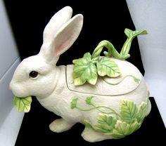Fitz Floyd Le Lapin Rabbit Tureen Ladle 3 PC Set Easter Decorative Bunny | eBay SOLD