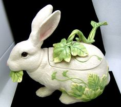 Fitz Floyd Le Lapin Rabbit Tureen Ladle 3 PC Set Easter Decorative Bunny | eBay SOLD