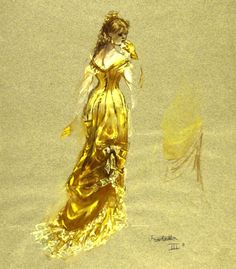 De Nobili's designs for Violetta for La Scala in 1955 were important as the oppressive and rigid luxury of the sets and costumes had to hint at the hypocrisy and cynicism of the main characters.