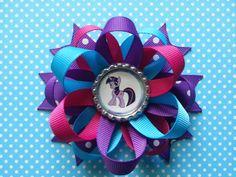 Twilight Sparkle my little pony hair bow available by bellecaps