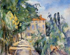 House with Red Roof Paul Cézanne - 1887-1890