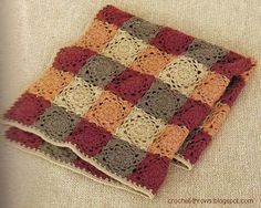 Crochet Throw Blanket. Nice autumn colours. Or summer if you are in the UK and its freezin for July!!