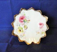 Cherry China trinket dish or display plate by MyHighStreetBoutique
