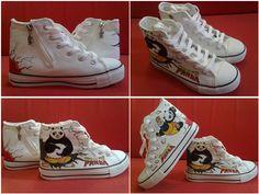 a3e2ad009756e9 kung fu panda hand painted kids shoes Painted Vans