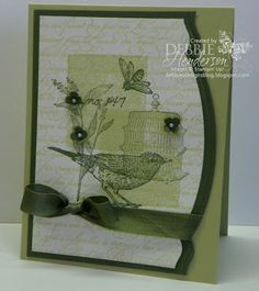 Stampin' Up! Nature Walk Stepped-Up version by Debbie Henderson, Debbie's Designs.