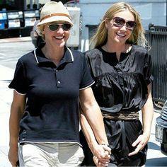 Ellen Degeneres And Portia, Ellen And Portia, Portia De Rossi, Celebrity Couples, Captain Hat, Celebs, Photos, Fashion, Celebrities