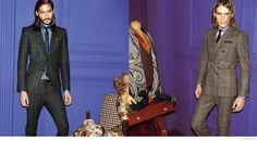 Etro Delivers Houndstooth, Windowpane & Pinstripe Suits for Fall/Winter 2014 image Etro Fall Winter 2014 Mens Look Book Suiting 004 800x443 ...