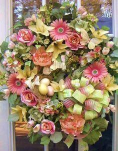 Silk floral wreath