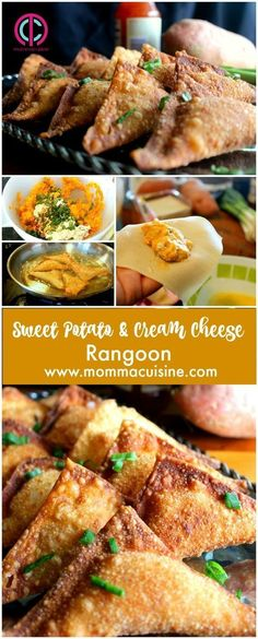 Sweet Potato and Cheese Rangoons Great for Dinner or Party Food!