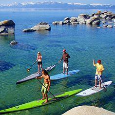 Tahoe Paddle & Oar attraction - Kings Beach, CA. Looks fun! Algarve, Paddle Boarding, St Jean Baptiste, Sup Stand Up Paddle, Hawaii, Sup Yoga, Sup Surf, Lake Tahoe, Hot Springs