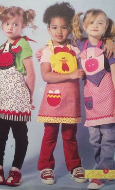 Children's Aprons  McCall's M6576 Pattern  UNCUT by Boxtreasures, $4.49