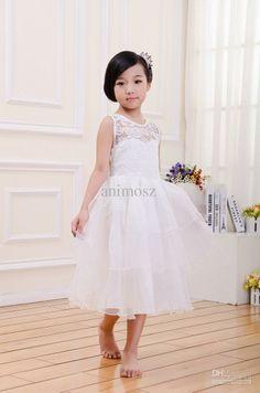 Wholesale Flower Girls  Dresses - Buy Christmas Season Flower Girl Dresses  Ball  Gown Satin Little Girls   Big Girls  Factory Outlet S40 2765103f847a