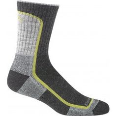 """Darn Tough Men's Light Hiker Micro Crew Cushion.  Breathable and fast drying, this """"all-weather"""" sock stays cool in the summer and warm in the winter plus it's naturally antimicrobial so it repels bacteria and odor—a great feature when you need to get any extra day (or two) out of your socks. Still made in Vermont. Guaranteed for life. $20.00"""