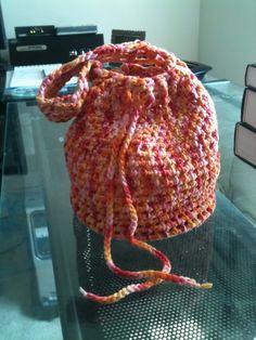 Crochet Drawstring Bag Pattern