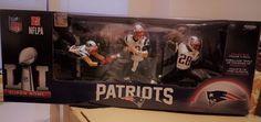 Sports 754: Mcfarlane Nfl New England Patriots 3 Pack Sb 51 Champs Brady Edelman White -> BUY IT NOW ONLY: $59.95 on eBay!