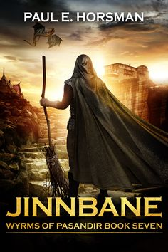 """""""Jinnbane"""" (final) book 7 in the gen. 'Wyrms of Pasandir-series', after 'Return to Vanhaar' gen) and before 'Broomriders in Space' gen). Fantasy Books, Book Publishing, My Books, Audiobooks, This Book, Reading, Free Apps, Movie Posters, Space"""