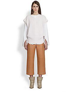 Chloe - Cashmere Ribbed Short-Sleeve Sweater