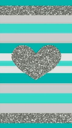 Teal glitter heart - quote maker patterns on Pinterest | iPhone wallpapers, Iphone 5 ...