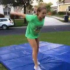 Cheerleader Fail - This hurts to watch. Person holding camera should have been spotting instead. Gif