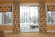 Mix and match your drapery styles on a large wall, here are flat roman shades and french pleat draperies all made by u-fab! - U-Fab Home Tour – Bold and Beautiful