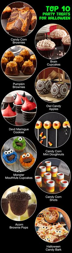 Brains, monsters, devils – oh my! Need some ideas for Halloween party treats? You've come to the right place. Whether you're hosting a party this year or going to one, these top Halloween treats will (Cake Decorating Halloween)