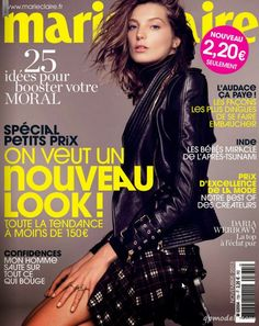 Marie Claire France November 2013 cover story photographed by Nico with supermodel Daria Werbowy styled by Claudia Englmann. Hair styling by David Delicourt and makeup from Alice Ghendrih. Fashion Mag, Fashion Cover, Elle Marie, Marie Claire France, Daria Werbowy, Canadian Models, Beauty Shoot, Img Models, Leather Trousers