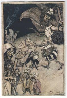 Arthur Rackham 'Witches and Warlocks' illustration, 1907 | eBay