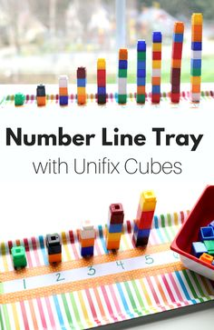 Great preschool math ideas with unifix cubes