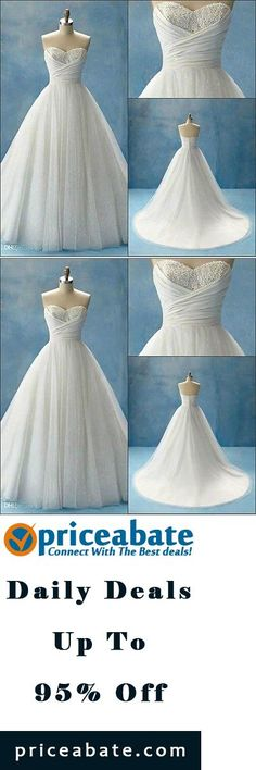 Cool New White Ivory Wedding Dress bridal Gown Custom Size 2 4 6 8 ...