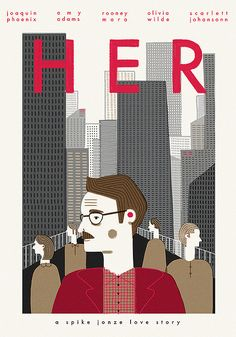 Her (2013) ~ Minimal Movie Poster by Esme Lonsdale
