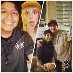 Paramore with fans