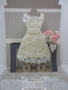 Beautiful lace with dress up framelit!