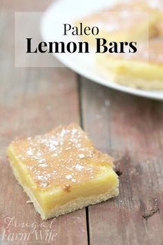 These paleo lemon bars hit the spot just right - but they're a guilt-free, healthy dessert!