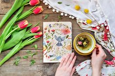 A pretty notebook will inspire your creativity.