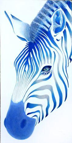 "Saatchi Art Artist: Poggetti Christian; Acrylic 2011 Painting ""zebra 11002"""