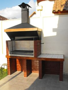 Barbecue Design 2020 – Can you use normal bricks for a BBQ - Home Ideas Outdoor Kitchen Bars, Outdoor Oven, Backyard Kitchen, Outdoor Kitchen Design, Outdoor Cooking, Barbecue Design, Grill Design, Parrilla Exterior, Brick Grill