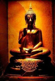 Buddha in golden light