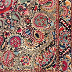 LAKAI-SHAHRISYABZ Suzani, Uzbekistan, First half 19th century. 255 x 216cm (8' x 7') Rippon Boswell auction, Sold for: €143,000