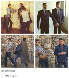 Jared Padalecki and Jensen Ackles from Supernatural - J2 Shenanigans [SET of GIFS]