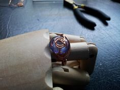 Copper Wrapped Violet Ring by TrishandJude on Etsy, $20.00