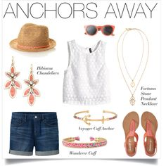 Anchors Away by stelladot on Polyvore featuring H&M, Uniqlo, Aéropostale, Stella & Dot and Toast