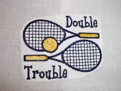 Double Trouble  Tennis Towels.